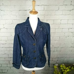 GUC French Cuff Jean jacket with flap pockets #404